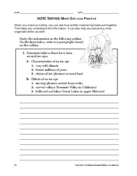 Study Skills: Note Taking: More Outlining Practice