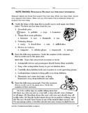Study Skills: Note Taking: Recognizing Relevant and Irrele