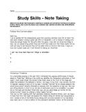 Study Skills Notetaking Acivity