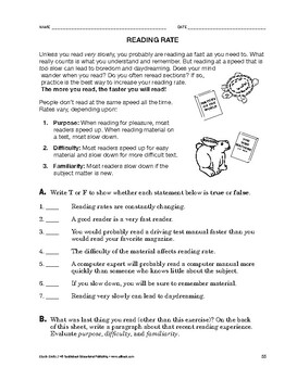 Study Skills: Reading Rate