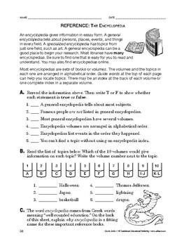 Study Skills: Reference: The Encyclopedia