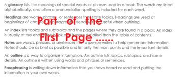 Study Skills & Research Writing Worksheet +True False, Mutliple Choice Questions