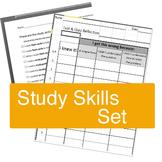 Study Skills Set -- Items to use when Teaching Study Skills (& Test Reflection)