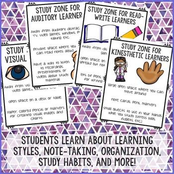 Study Skills Group Counseling Program - Study Skills Activities