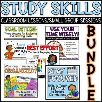 Study Skills Lesson Bundle (Classroom or Small Group)