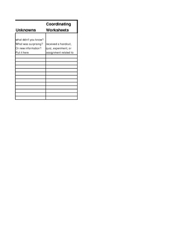Study Skills Spreadsheets