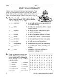 Study Skills: Study Skills Vocabulary
