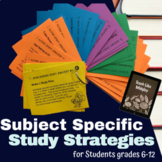 Study Skills: Study Strategies for Math, History, and Science