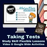 Study Skills Taking Tests Video Lesson