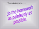 Study Skills: Taking the Work Out of HW