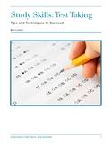 Study Skills: Test Taking