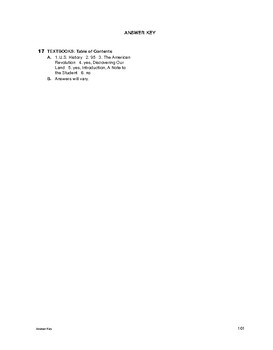 Study Skills: Textbooks: Table of Contents