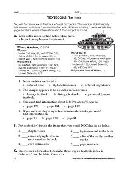 Study Skills: Textbooks: The Index