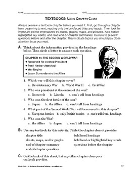 Study Skills: Textbooks: Using Chapter Clues