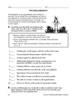 Study Skills: The Bibliography