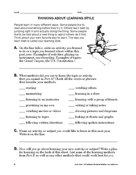 Study Skills: Thinking About Learning Style