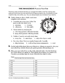 Study Skills: Time Management: Planning Your Time