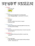 Study Skills Tips & Plan