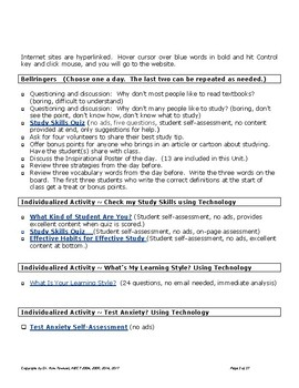 Study Skills Unit 2017 (PDF) by Kim Townsel