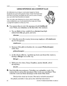 Study Skills: Using Inference as a Context Clue