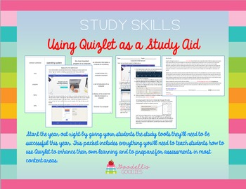 Study Skills - Using Quizlet as a Study Aid