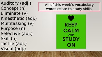 Study Skills Vocabulary