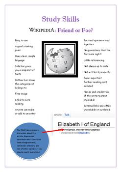Study Skills: Wikipedia - Friend or Foe?