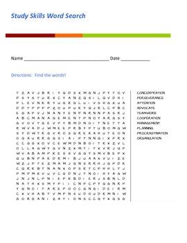 Study Skills Word Search
