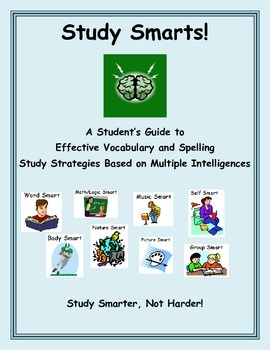 Study Smarts: Multiple Intelligences Vocabulary and Spelling Strategies