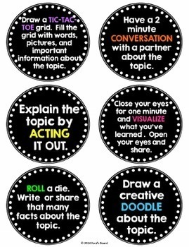 Review Activities for ANY Subject
