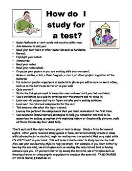 Study Strategies Handout