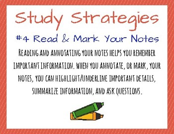 Study Strategies Posters