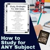 Study Skills: Study Strategies for Any Subject