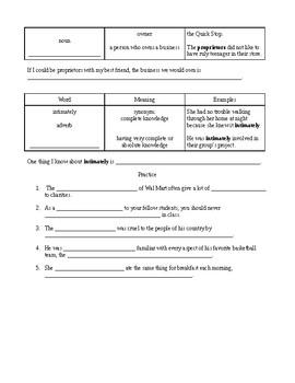 Study Sync 8th Grade Unit 4 Vocabulary