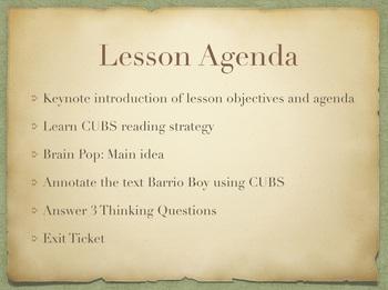 Study Sync's Barrio Boy Lesson 2