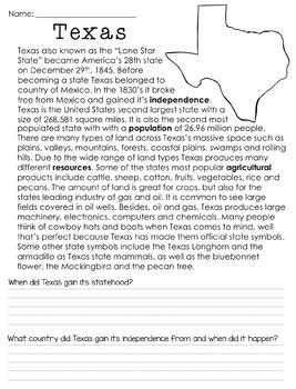 Texas Non-Fiction Informational Text Unit
