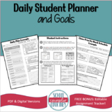 Daily Student Planner and Goals Worksheets
