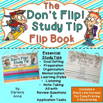 STUDY SKILLS AND TIPS: DON'T FLIP! FLIP BOOK FOR MIDDLE SCHOOL