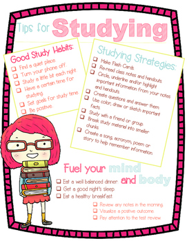 Study Tips Poster