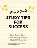 Study Tips for Success *editable*