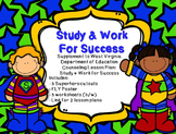 Study & Work for Success Supplement for WV Counseling Curriculum