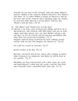 Study guide The Catcher in the Rye