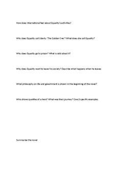 Study guide for Anthem