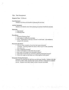 Study, note taking, and testing skills unit with lesson plans and answer key