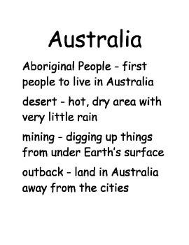 Study of Australia