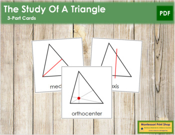 Study of a Triangle: 3-Part Cards