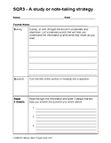 Study or Note-Taking Template for Students using the SQR3 Method