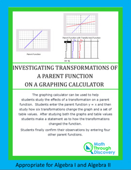 Study the Effects of a Transformation on a Parent Function