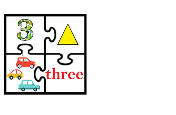 Study the numbers from 1 to 5 - puzzle