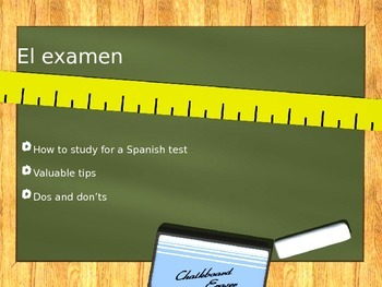 Study tips for Spanish class